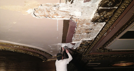 Riverside Theater Moulding Repair